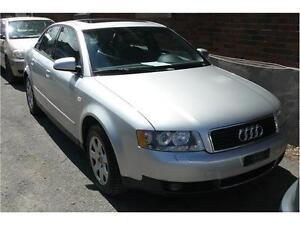 2002 Audi A4, TOIT OUVRANT, CUIR, TT EQUIPEE, ECONOMIQUE 1.8L