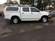 2014 Toyota Hilux KUN26R MY14 SR (4x4) White 5 Speed Manual Dual Cab Chassis West Croydon Charles Sturt Area Preview
