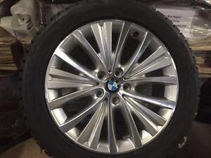 "Brand New OEM BMW X5 X6 19"" machined with Blizzak package"