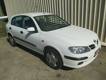 2001 Nissan Pulsar N16 ST White 5 Speed Manual Hatchback Kippa-ring Redcliffe Area Preview