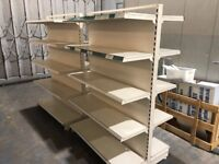 DOUBLE SIDED GANDOLA SHELVING UNITS IDEAL FOR GROCERY AND OTHER SHOPS