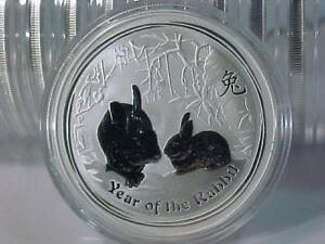 RARE-offering 2011 LUNAR **YEAR of THE RABBIT** 1 OZ 999 SILVER COIN DIRECT FROM PERTH MINT ROLL-FREE SHIPPING CANADA