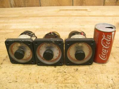 3 Vintage Eagle Signal Corp Cycl-flex Traffic Light Control Reset Timer Gauge