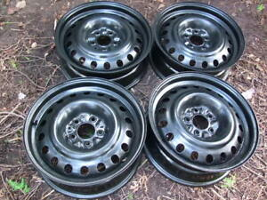 "4-16"" 5x114.3MM (4.5"") BLACK STEEL WHEELS CAN SELL SINGLES"
