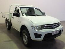 2010 Mitsubishi Triton MN MY10 GLX White 5 Speed Manual Cab Chassis Westdale Tamworth City Preview