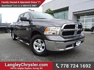 2017 RAM 1500 SLT W/ 4X4, REAR-VIEW CAMERA & TOW PACKAGE