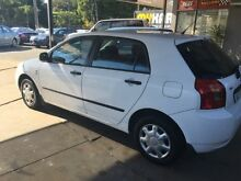 2002 Toyota Corolla ZZE122R Ascent Seca White 5 Speed Manual Hatchback Wickham Newcastle Area Preview