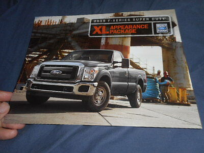 2015 Ford Super Duty XL Appearance Package Color Brochure Prospekt