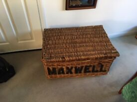 Wicker Laundry basket(mid 20th century)
