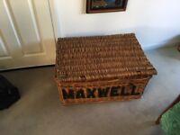 Wicker Laundry basket(mid 20th century)