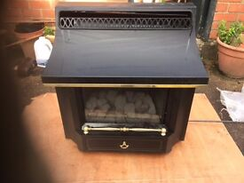 Fireplace working with gaz, very good condition £15