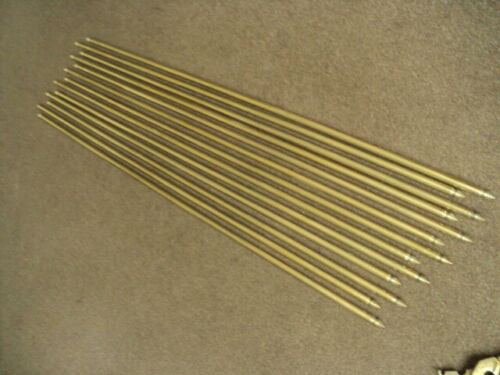 13  VINTAGE SOLID  BRASS   BEEHIVE STAIR RODS AND  26 ORIGINAL  BRACKETS