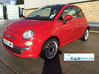 2013 (63 Reg) FIAT 500 1.2 LOUNGE RED (stop-start), high spec, superb example, 1 lady owner