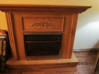 Solid Oak Mantle and fireplace