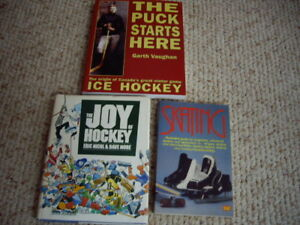 HOCKEY/SKATING BOOKS
