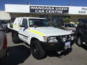 2002 Nissan Patrol GU DX Plus (4x4) White 5 Speed Manual Leaf Cab Chassis Wangara Wanneroo Area Preview