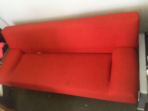Red Folding Ikea Couch/Bed Perfect Condition