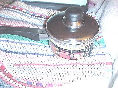 NEW, LUSTERWARE 1 QT SAUCEPAN WITH LID MODEL 510, DURABLE STAINLESS STEEL 4/8