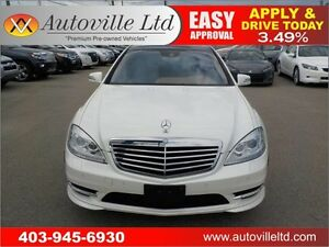 2010 Mercedes S450 4MATIC DIAMOND WHITE LEATHER ROOF NAVI B CAM
