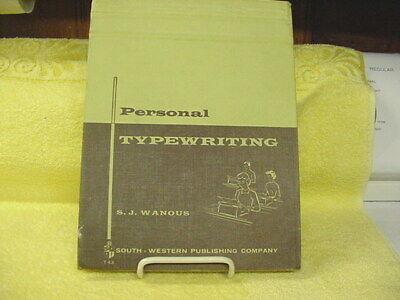 Touch Typewriting 1937 Personal Typewriting Ins Book 1959--original