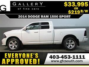 2014 DODGE RAM SPORT CREW *EVERYONE APPROVED* $0 DOWN $219/BW
