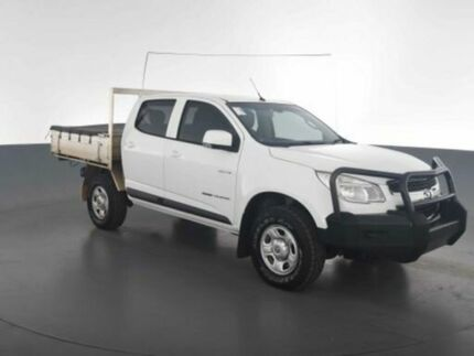 2014 Holden Colorado RG MY14 LX (4x4) White 6 Speed Manual Crew Cab Chassis Virginia Brisbane North East Preview