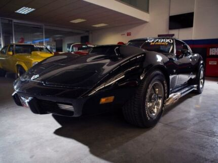 1978 Chevrolet Corvette Stingray Black 4 Speed Automatic Coupe Burwood Burwood Area Preview