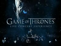 2x Game of Thrones live concert experience, Ramin Djawadi, Wembley SSE arena, 14th June