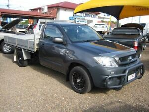 2010 Toyota Hilux TGN16R MY09 Workmate Grey 5 Speed Manual Cab Chassis Woodend Ipswich City Preview