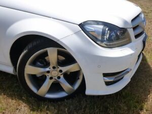 2013 Mercedes-Benz C180 C204 MY13 7G-Tronic + White 7 Speed Sports Automatic Coupe