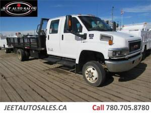 2007 GMC 5500 C/C Flat Deck with 17 ft Flat Bed