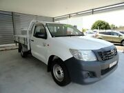 2011 Toyota Hilux TGN16R MY12 Workmate 4x2 White 5 Speed Manual Cab Chassis West Ballina Ballina Area Preview