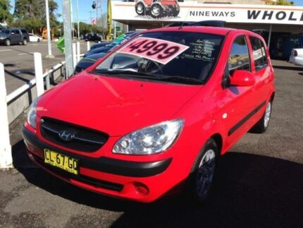 2010 Hyundai Getz TB MY09 SX Red 5 Speed Manual Hatchback