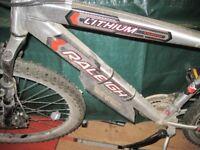 Raleigh Lithium 18 speed Mountain Bike