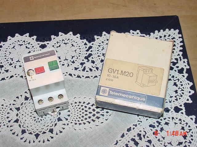 Telemecanique GV1-M20 Manual Motor Starter Circuit Breaker Protector 10-16A, NEW