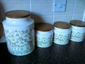 Hornsea Pottery Jars Set