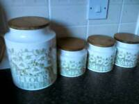 Hornsea Pottery Jars Set