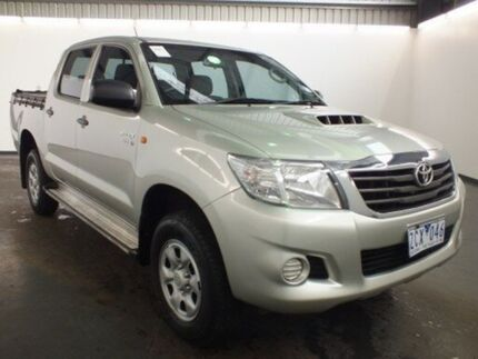 2012 Toyota Hilux KUN26R MY12 SR (4x4) Sterling Silver 4 Speed Automatic Dual Cab Utility Albion Brimbank Area Preview