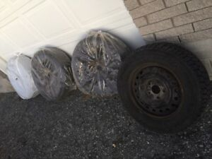 4 x Goodyear Nordic Winter Tires on Rims - Size 235 60 R16