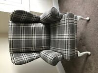 Wingback upholstered arm chair