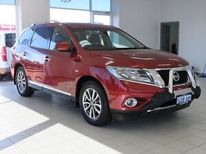 2015 Nissan Pathfinder R52 MY15 ST-L Hybrid OP (4x4) Cayenne Red Continuous Variable Wagon Morley Bayswater Area Preview