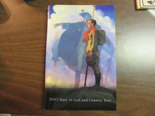 2002 Duty to God and County Scout Art Tour Book, Signed by Joe Csatari    mb