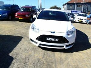 2013 Ford Focus LW MK2 ST White 6 Speed Manual Hatchback Five Dock Canada Bay Area Preview