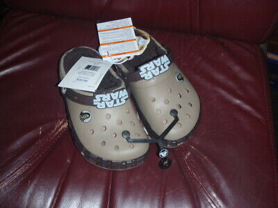 Crocs Kids STAR WARS Chewbacca LINED Clogs SIZE J2 RETAILS $39.99 NEW W/TAGS