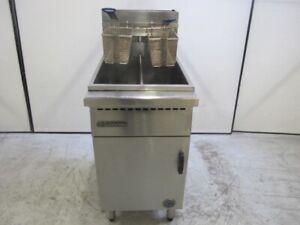 GRAYSONLINE AUCTION Goldstein Gas Double / Split Pan 2 Basket Deep Fry