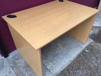 Oak 1200 straight office desk