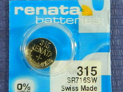 Renata  315  SR716SW  Watch Electronic Batteries   Button Cell ,1 Pc