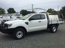 2013 Ford Ranger PX XL 3.2 (4x4) White 6 Speed Manual Super Cab Pick-up Newcastle 2300 Newcastle Area Preview