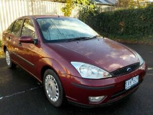 2003 Ford Focus LR CL Red 4 Speed Automatic Sedan Newtown Geelong City Preview