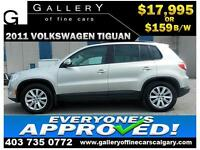 2011 Volkswagen Tiguan S $159 bi-weekly APPLY NOW DRIVE NOW